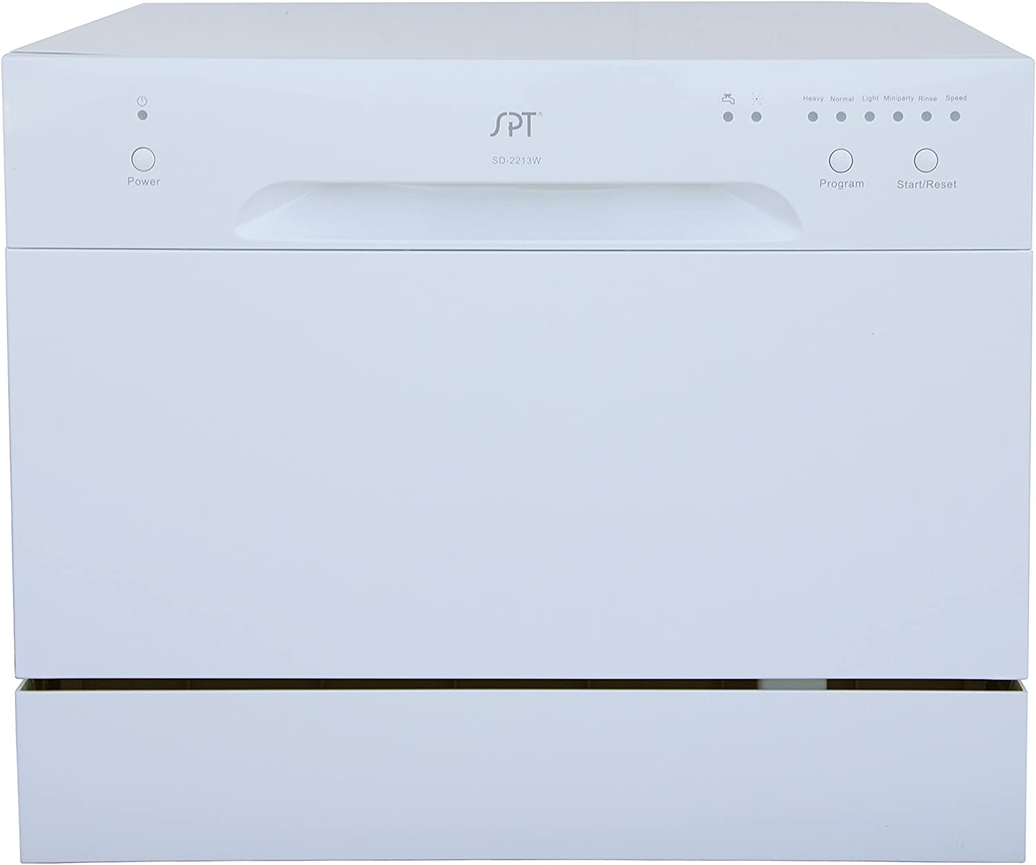 Sunpentown SD-2213W Countertop Dishwasher in White, Gray