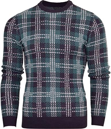 Brave Soul Mens Chunky Cable Knit Jumper Fishermans Sweater Winter Pullover Top