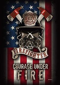 """Toland Home Garden 1112391 Courage Under Fire 12.5 x 18 Inch Decorative, Garden Flag (12.5"""" x 18"""")"""