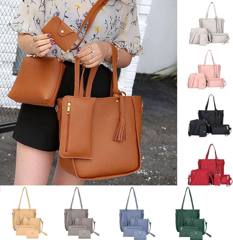 Leather Shoulder Bag Women Messenger Bag Women Four Piece Handbag