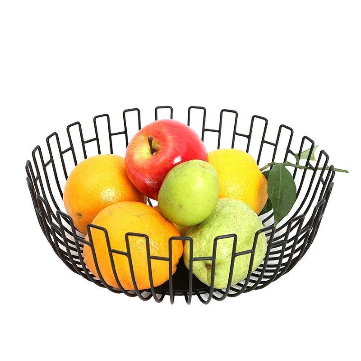 XX_C フルーツバスケット フルーツバスケットフルーツバスケット多機能フルーツバスケット飾られたフルーツプレートフルーツボウル収納バスケット -キッチン用品食器 (色 : ブラック, サイズ さいず : B) B ブラック B07QNK4P2D