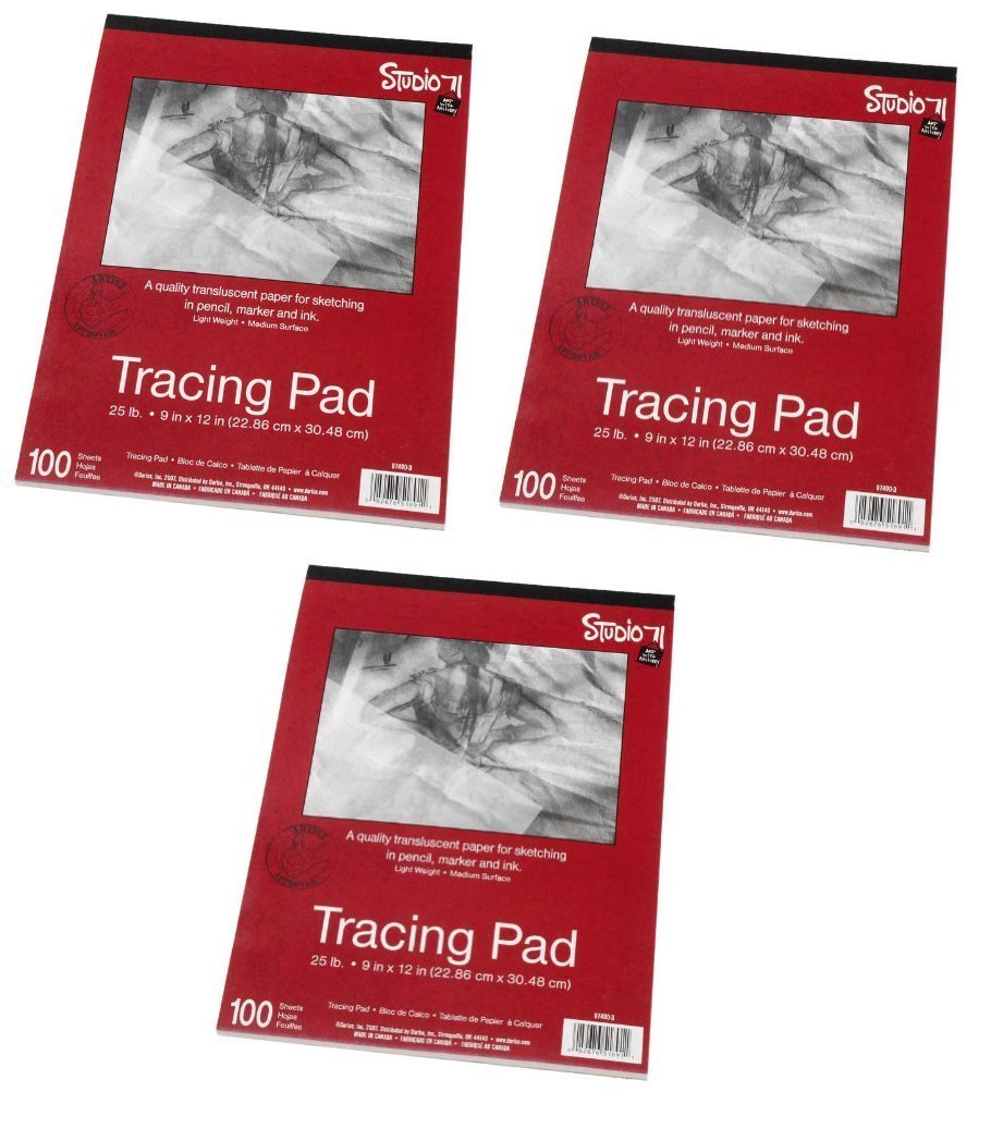 Darice 9-Inch-by-12-Inch Tracing Paper, 100-Sheets (3-Pack) by Darice