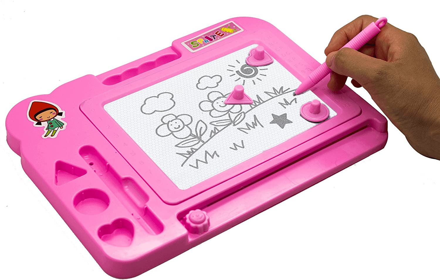 1x Kids Magnetic Drawing Board Scribbler Sketcher Doodle Small Educational Toy