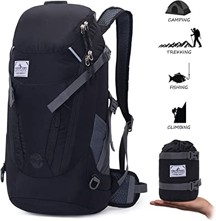 Foldable Lightweight Travel Backpack Daypack Bag Sports Camping /& Hiking 30L