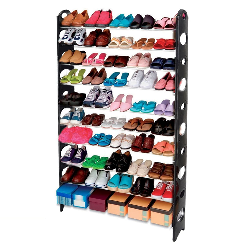 AcornFort S 106 10 Tier Adjustable Shoe Storage Shoe Rack Organiser Shelf  Hold Stand For