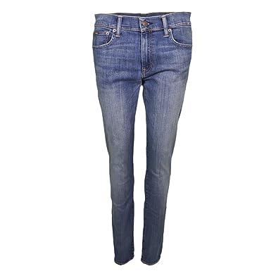 Ralph Lauren Jean Skinny Tompkins Bleu pour Femme  Amazon.fr ... 8cebd605ab8a