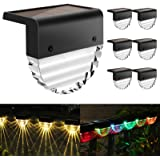 Solar Deck Lights, 6 Pack Solar Step Lights Outdoor Waterproof LED Solar Fence Lights for Patio, Stairs,Yard, Garden…