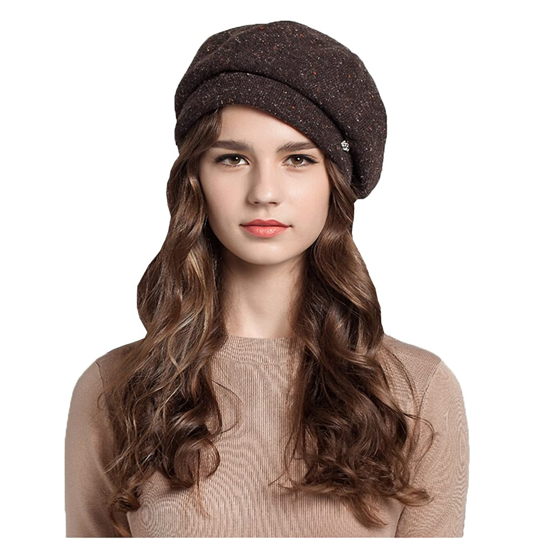 Maitose™ Frauen-Herbst- und Winterwollen Beret Coffe