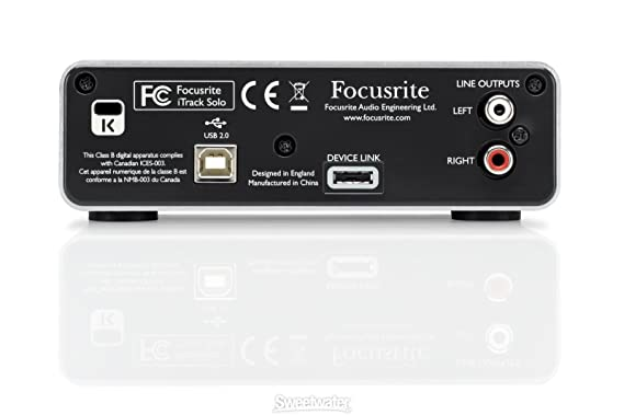 Focusrite iTrack Solo - Accesorio de audio (24 Bit, 98 kHz ...