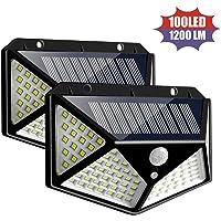 100 luces LED de pared solares de 3