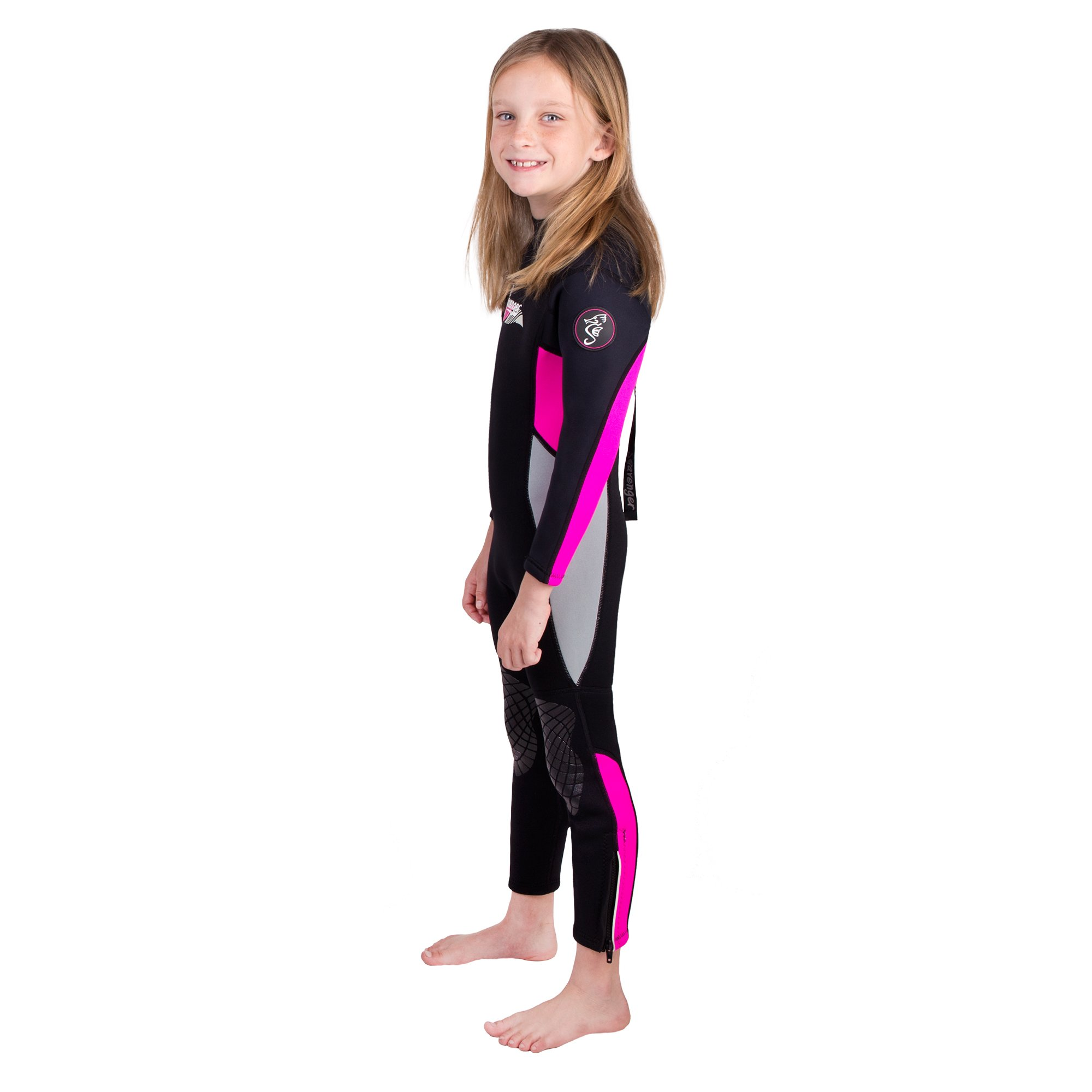 Seavenger Scout 3mm Kids Wetsuit | Full Body Neoprene Suit for Snorkeling, Swimming, Diving (Coral Pink, 6) by Seavenger (Image #5)