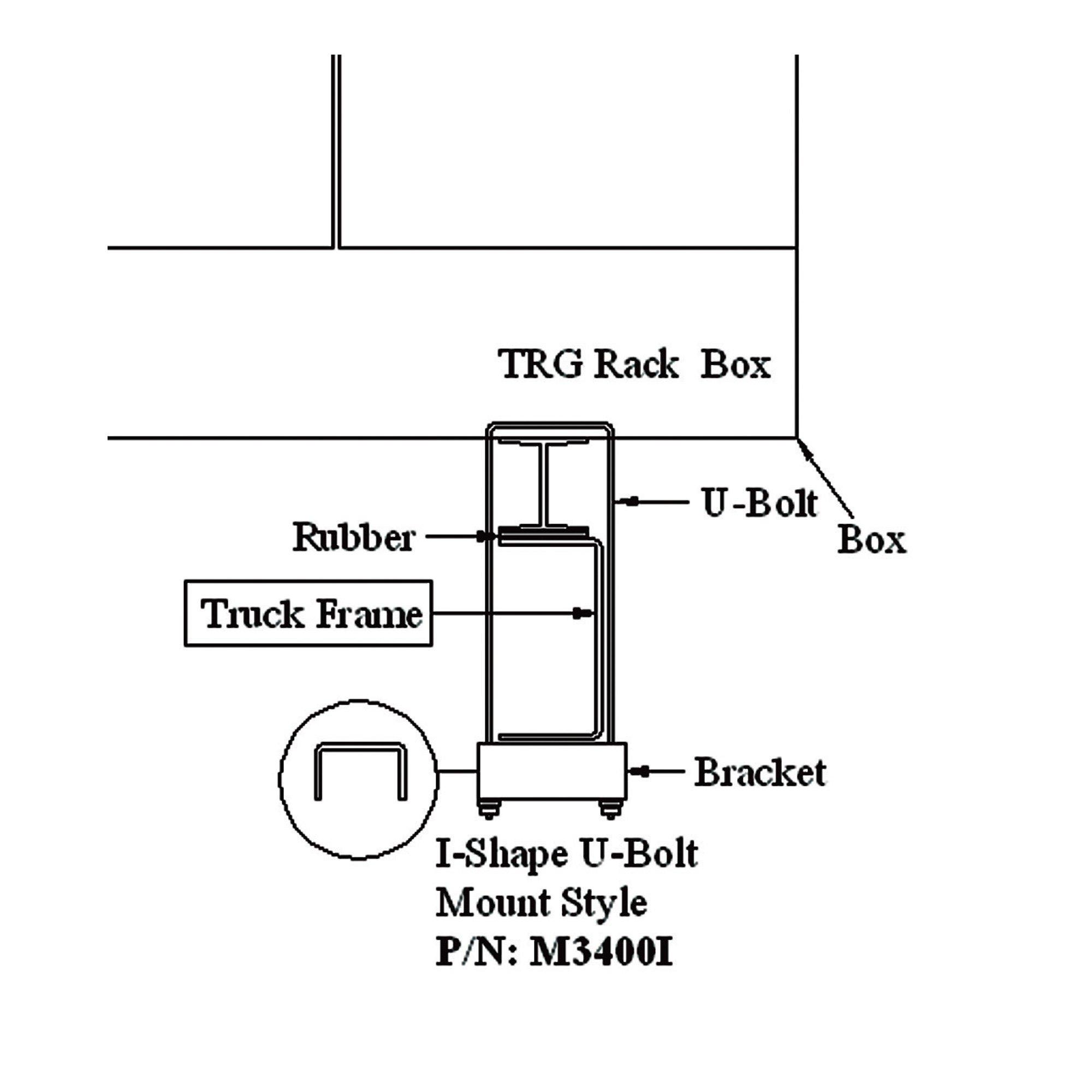 American Truckboxes U-Bolt Mounting Kit for Aluminum Rack Box [Misc.]