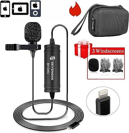 Amazon Com Lapel Lightning Mic For Ios Devics Vlog Video 236 Ft