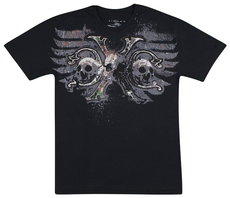 Black Large Xtreme Couture Mens Soldier T-Shirt