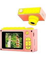 "ShinePick Cámara de Fotos para Niños,Mini Video Cámara Zoom Digital de 4X / 8MP / 2"" TFT LCD de la Pantalla con Tarjeta de Memoria (Rosa)"