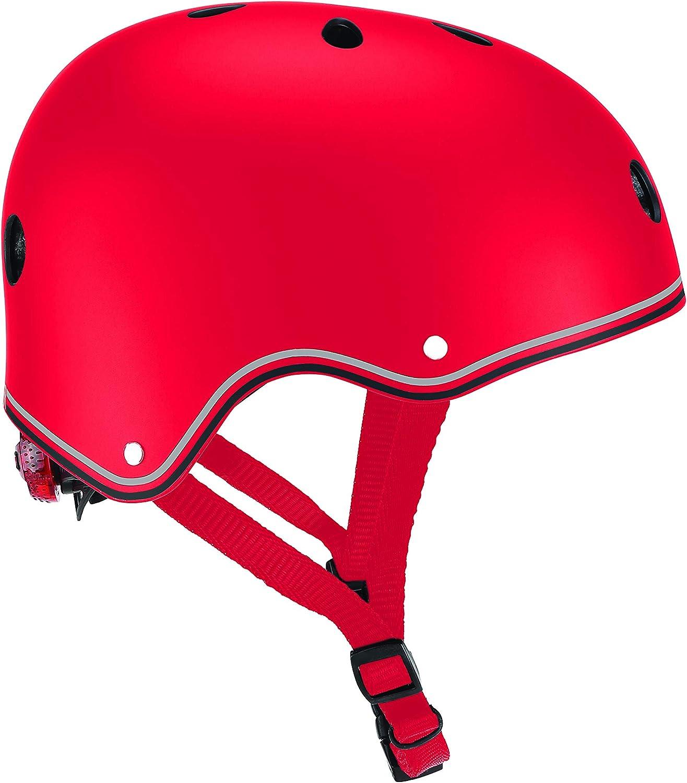 Globber - Casco Junior Primo-Red para niño, Unisex, Rojo, Talla XS-S