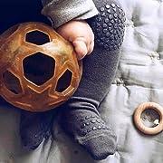 Gotd Baby Girl Pants Leg Warmer Non-slip Silica Gel Legging Trousers (6-12 Months, Dark Gray)