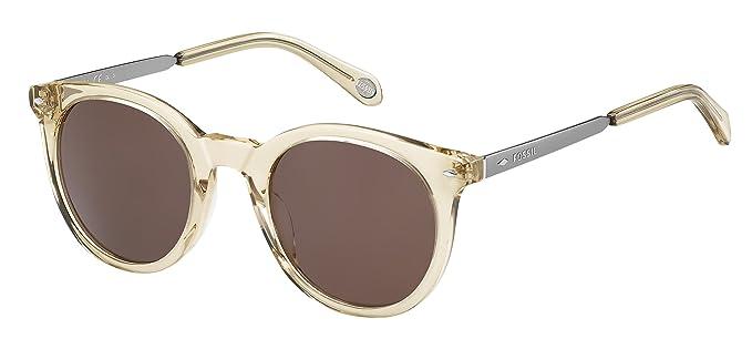 0e0fc5e0aa42d4 Amazon.com  Fossil Fos2053s Round Sunglasses BEIGE RUTHENIUM 49 mm ...