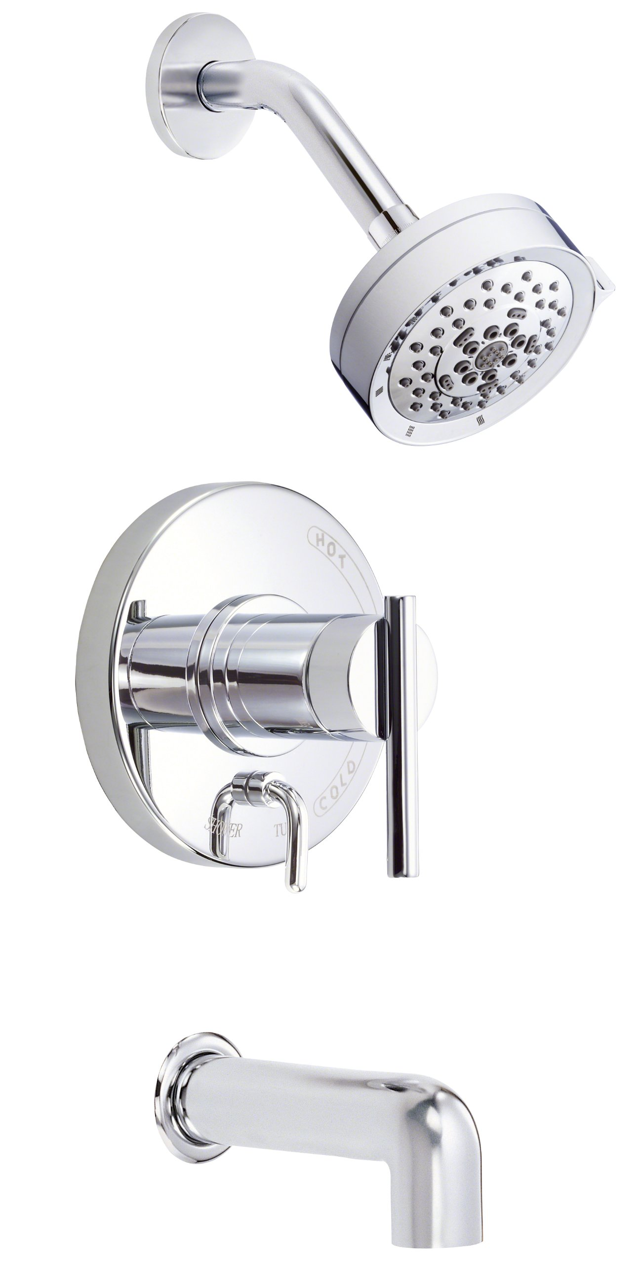 Danze D512058T Parma Single Handle Tub and Shower Trim Kit, 2.0 GPM, Valve Not Included, Chrome