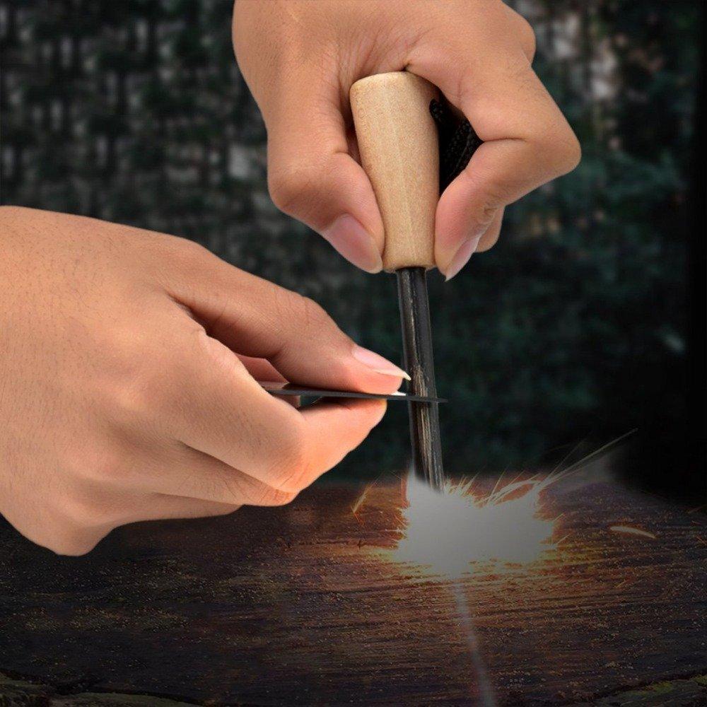 Feuerstab /& Feuerschl/äger mit Magnesiumstab in Premiumqualit/ät Ember Rock Feuerstahl Survival Outdoor Ausr/üstung Feuerstarter Feuereisen mit Feuerstein f/ür jede /Überlebensausr/üstung