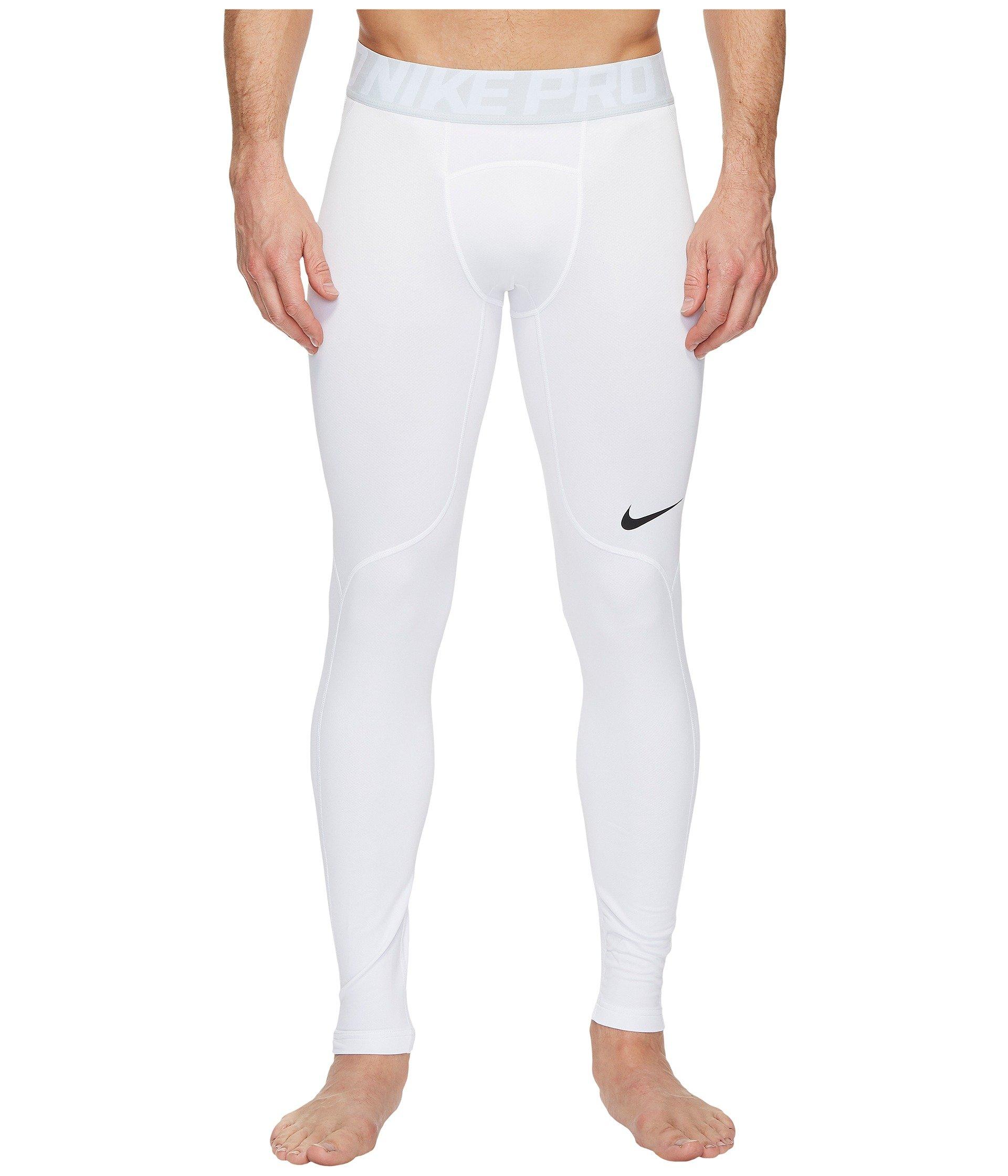 NIKE Men's Pro Hyperwarm Tights (XXL, White/Off White) by Nike