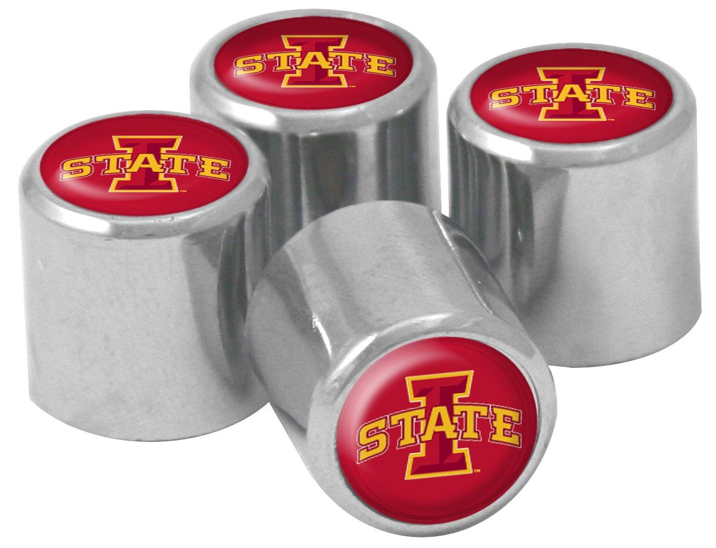 NCAA Iowa State Cyclones Metal Tire Valve Stem Caps 4-Pack Wincraft S89083