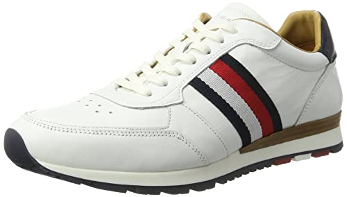 Tommy Hilfiger J2285UUSO 1A3, Zapatillas para Hombre, Blanco (White) 43 EU: Amazon.es: Zapatos y complementos