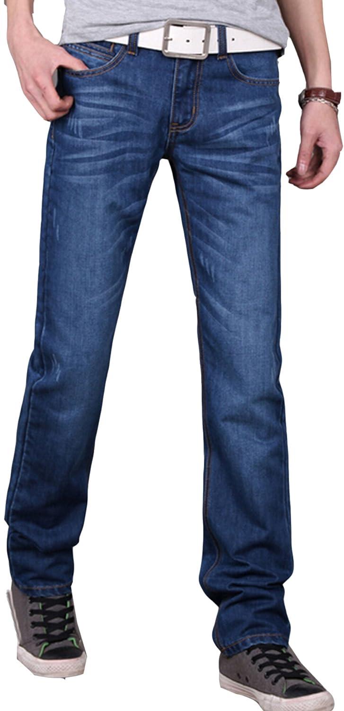 Freedi Size S Straight Leg Wrinkle Jeans Pants Slim Fit Men Trousers