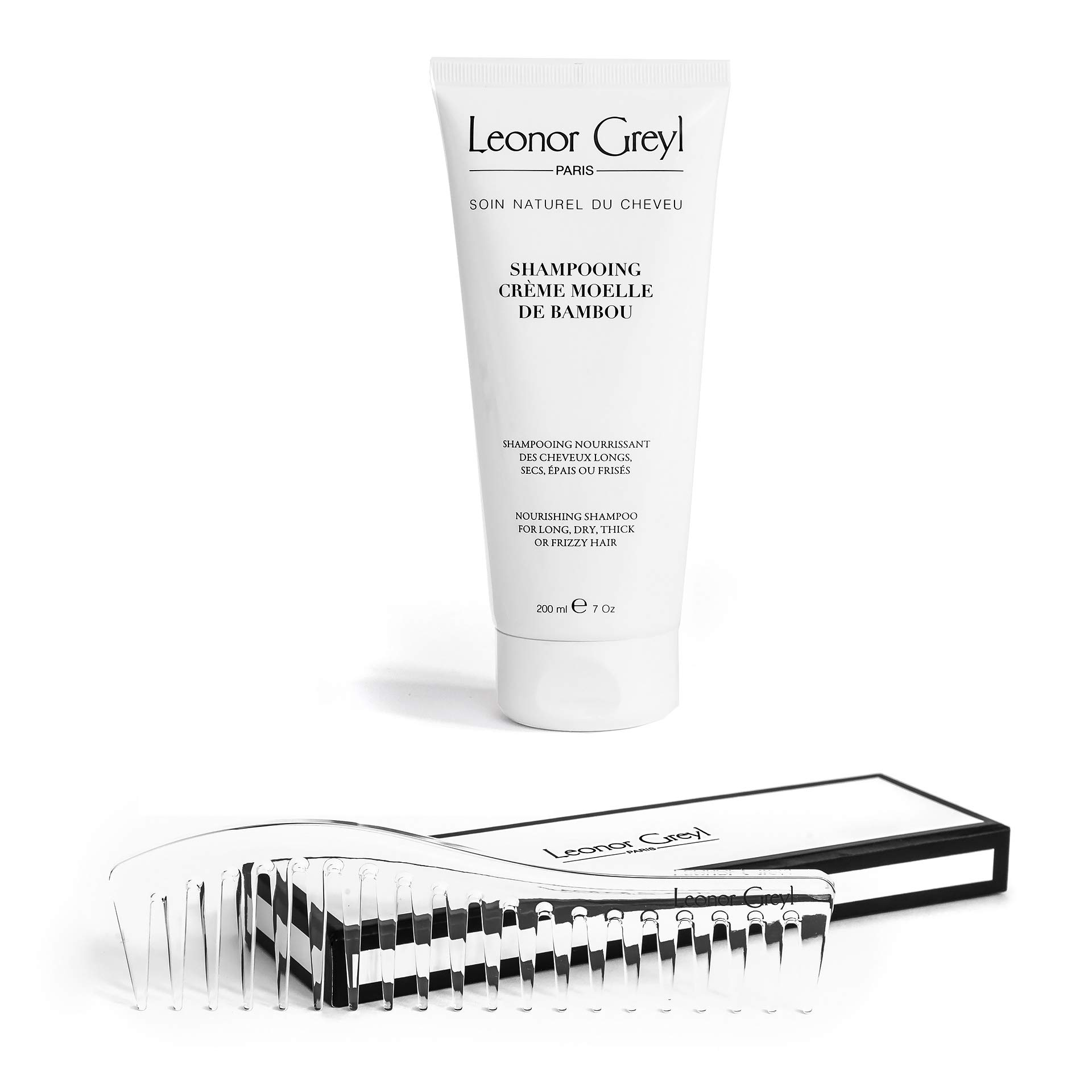 Leonor Greyl All Natural Organic Shampoo 6.7 oz. with BONUS Wide Toothed Comb for Smooth Silky Hair - Bamboo Extracts Repairs Dry Damaged Hair - Helps Hair Growth - Strengthens and Volumizes Hair by Leonor Greyl Paris
