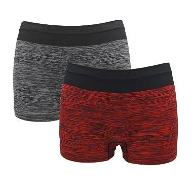 Women s Seamless Boyshort Panties Antibacterial Underwear Nylon Stretch  Boxer Briefs(S M 4132eb8a7f8