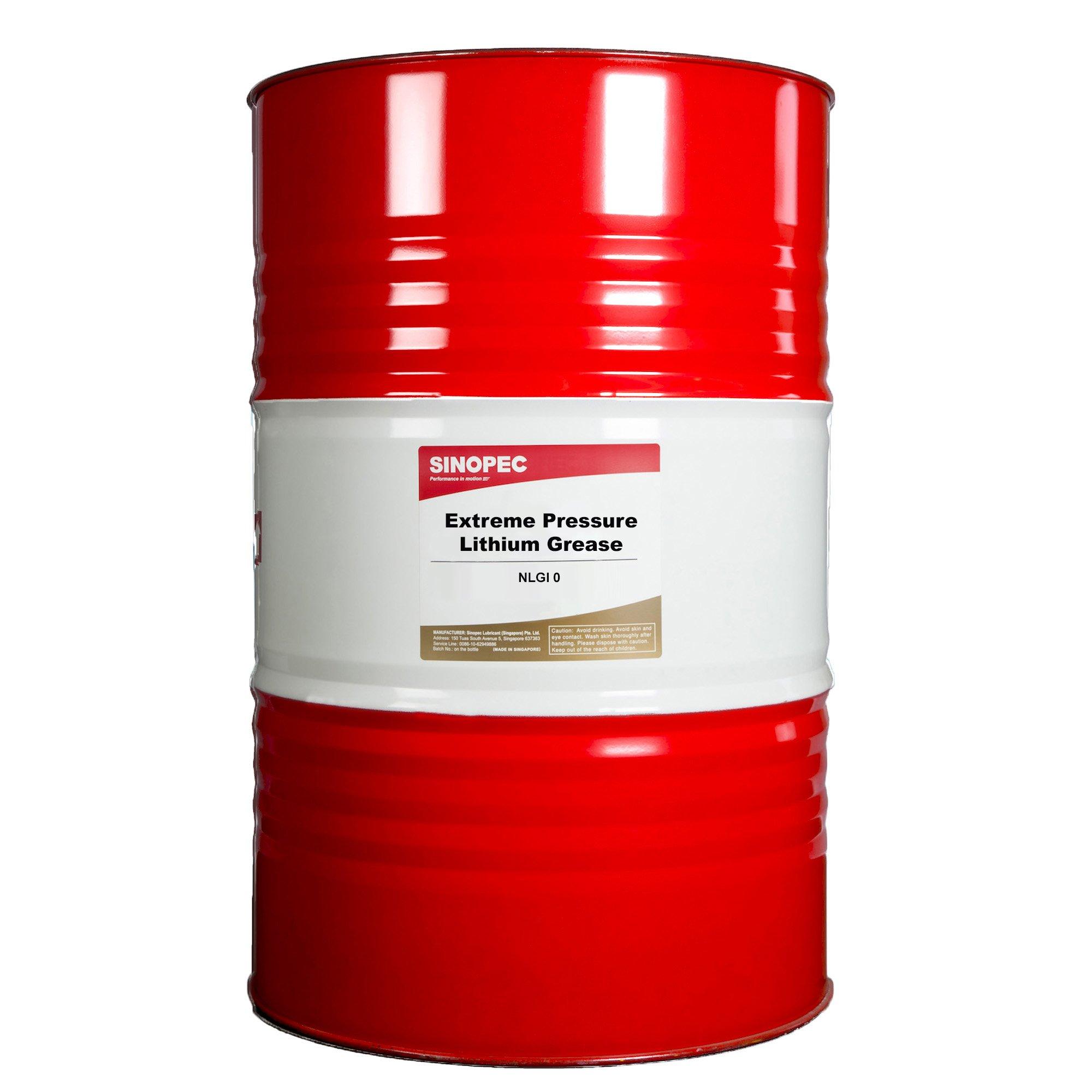 Sinopec EP0 Extreme Pressure Lithium Grease, Nlgi 0, 400 lb.