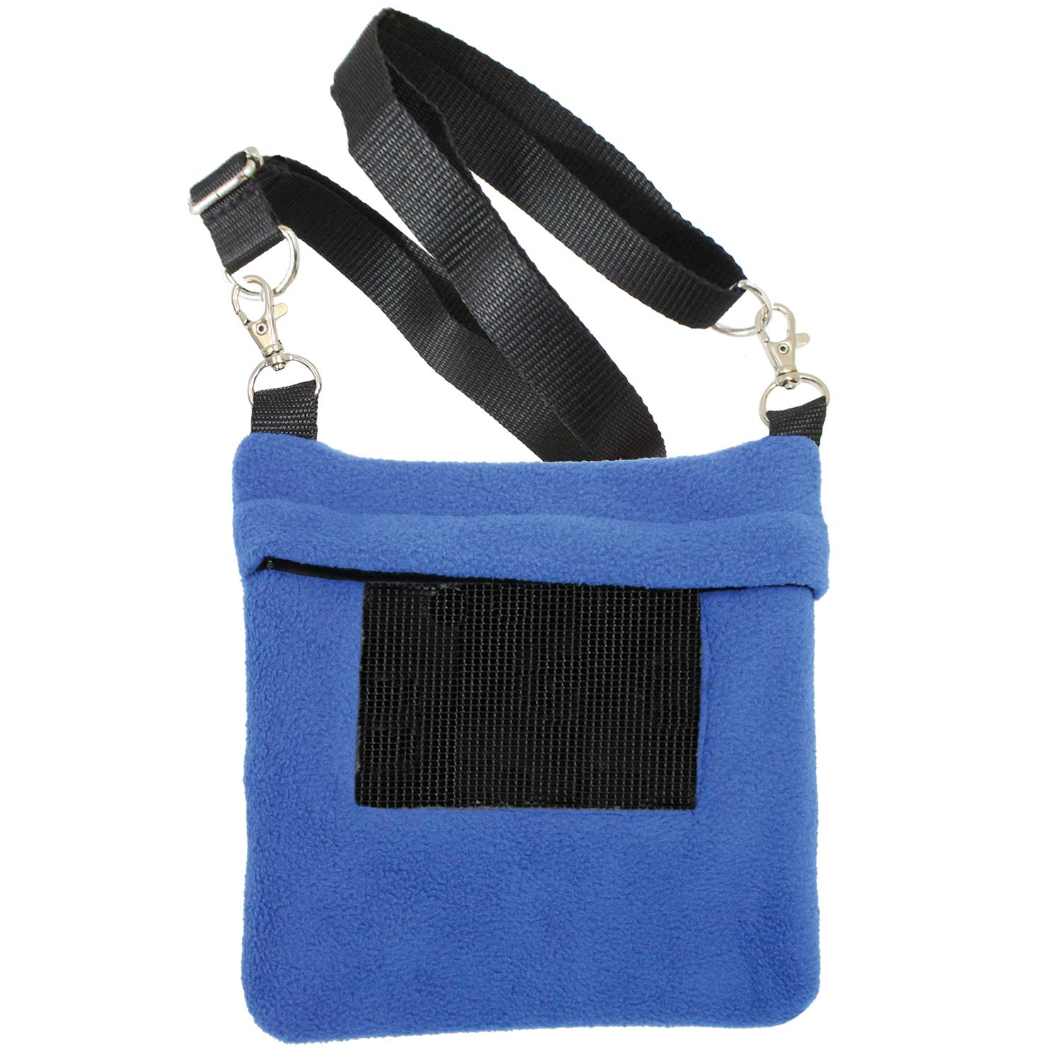 Exotic Nutrition Carry Bonding Pouch (Blue) - Fleece Bonding Carrier - Sugar Gliders, Squirrels, Marmosets, and Other Nesting Animals