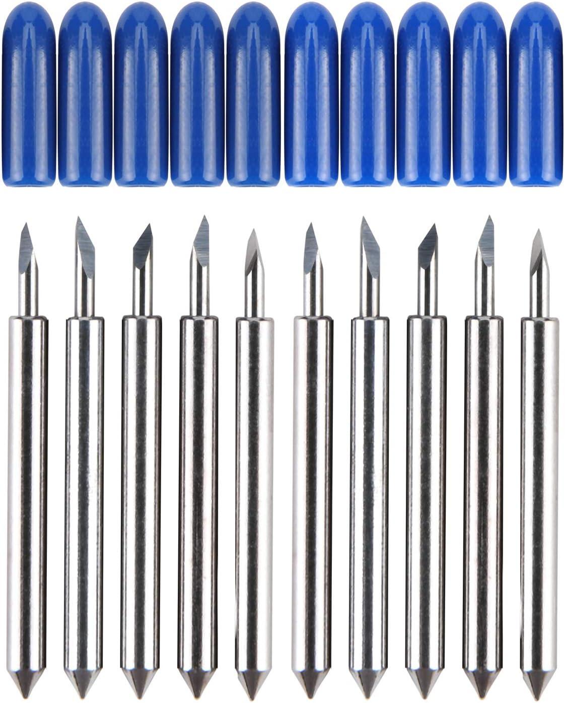 HQMaster - Cuchillas de acero de tungsteno para cortar vinilos para plotter de corte, 10 unidades: Amazon.es: Bricolaje y herramientas