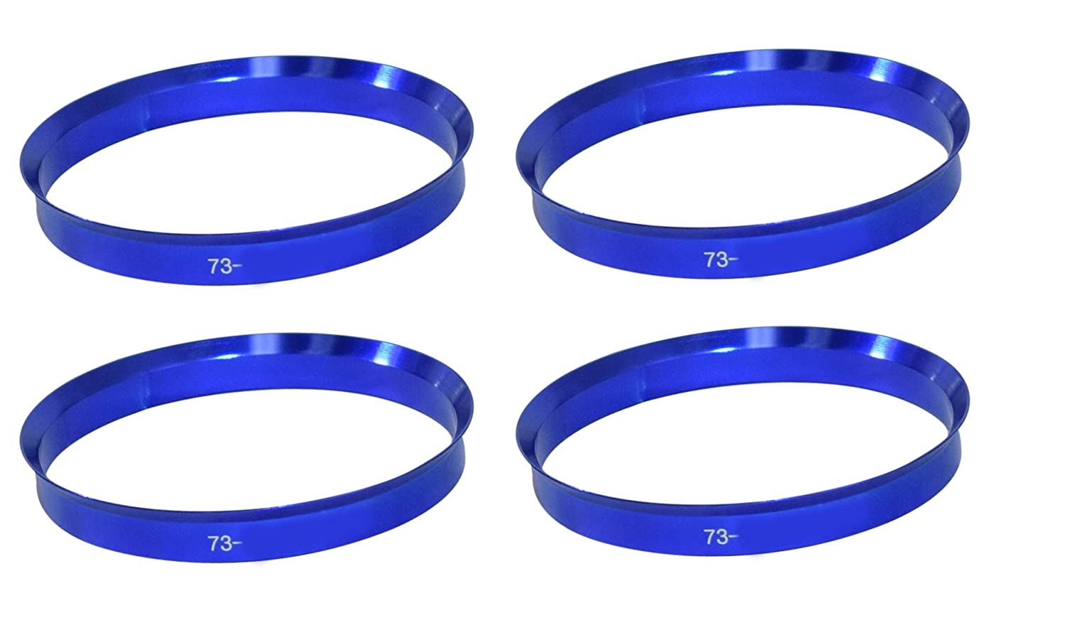 73mm OD to 70.50mm ID Aluminum Coyote Wheel Accessories 73-7050M Hub Centric Ring Set of 4