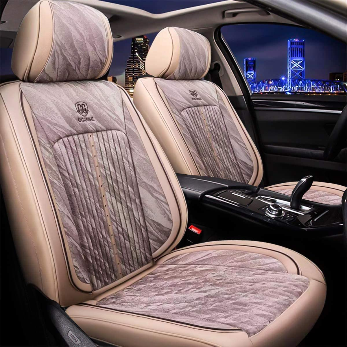 Black Leatherlook Front /& Rear Car Seat Covers for Volvo XC60 08-On