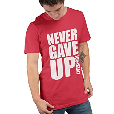 7990992e Liverpool Shirt - Never GAVE UP - Liverpool Champions Final 2019 - Allez  Allez Allez Liverpool T Shirt: Amazon.co.uk: Clothing