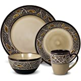 Gourmet Basics Alexandria 16 Piece Dinnerware Set, Service for 4