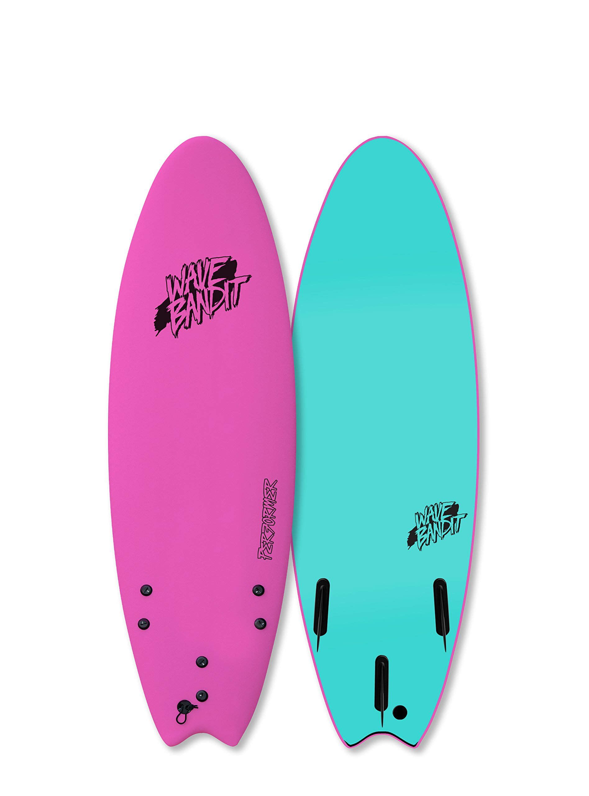 Catch Surf Wave Bandit Performer Tri Surfboard, Neon Pink, 5'6''