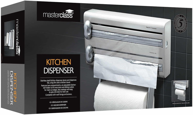 Kitchen Craft Pellicola e Alluminio per Carta da Cucina Portarotoli in Acciaio Inossidabile Master Class