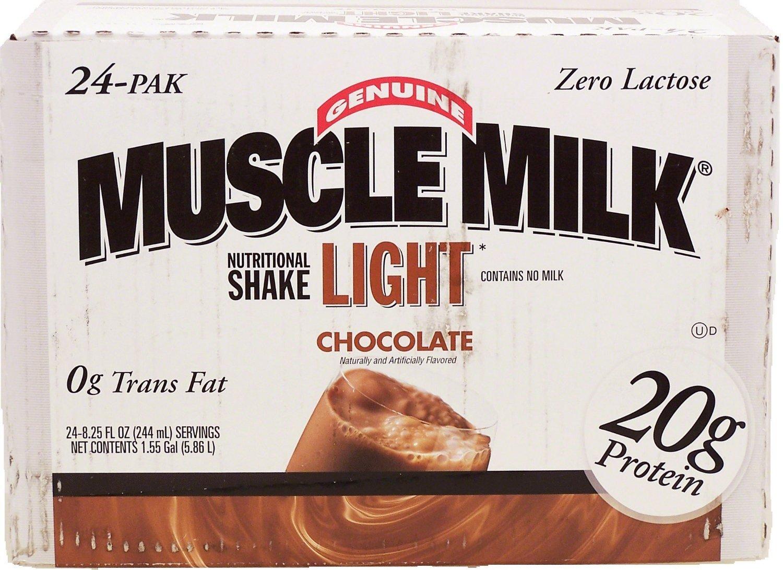【アメリカから直送】Muscle Milk Light Ready-to-Drink Shake  Chocolate (224ml) 24-Pak マッスルミルク プロテインシェイク チョコレート味 B00DMSSK3Q