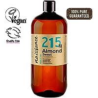 Naissance Huile d'Amande Douce (n° 215) – 1 litre – 100% pure, végan, sans OGM – parfaite pour les massages, le soin des cheveux et de la peau