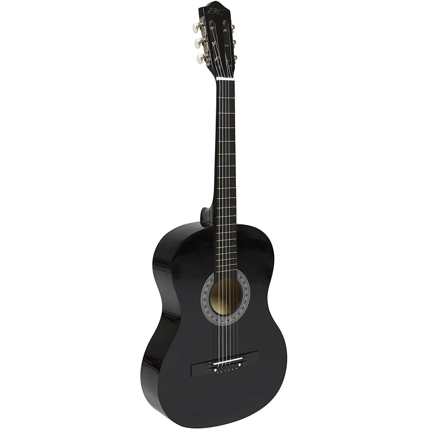 All-Wood Construction Black Guitar, 19 Frets, Steel Strings, Attractive Finish