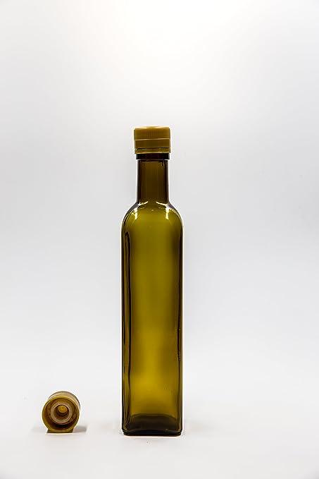 Covim nr 1 Botella Marasca 500 ML de Vidrio Verde Tapón n°21