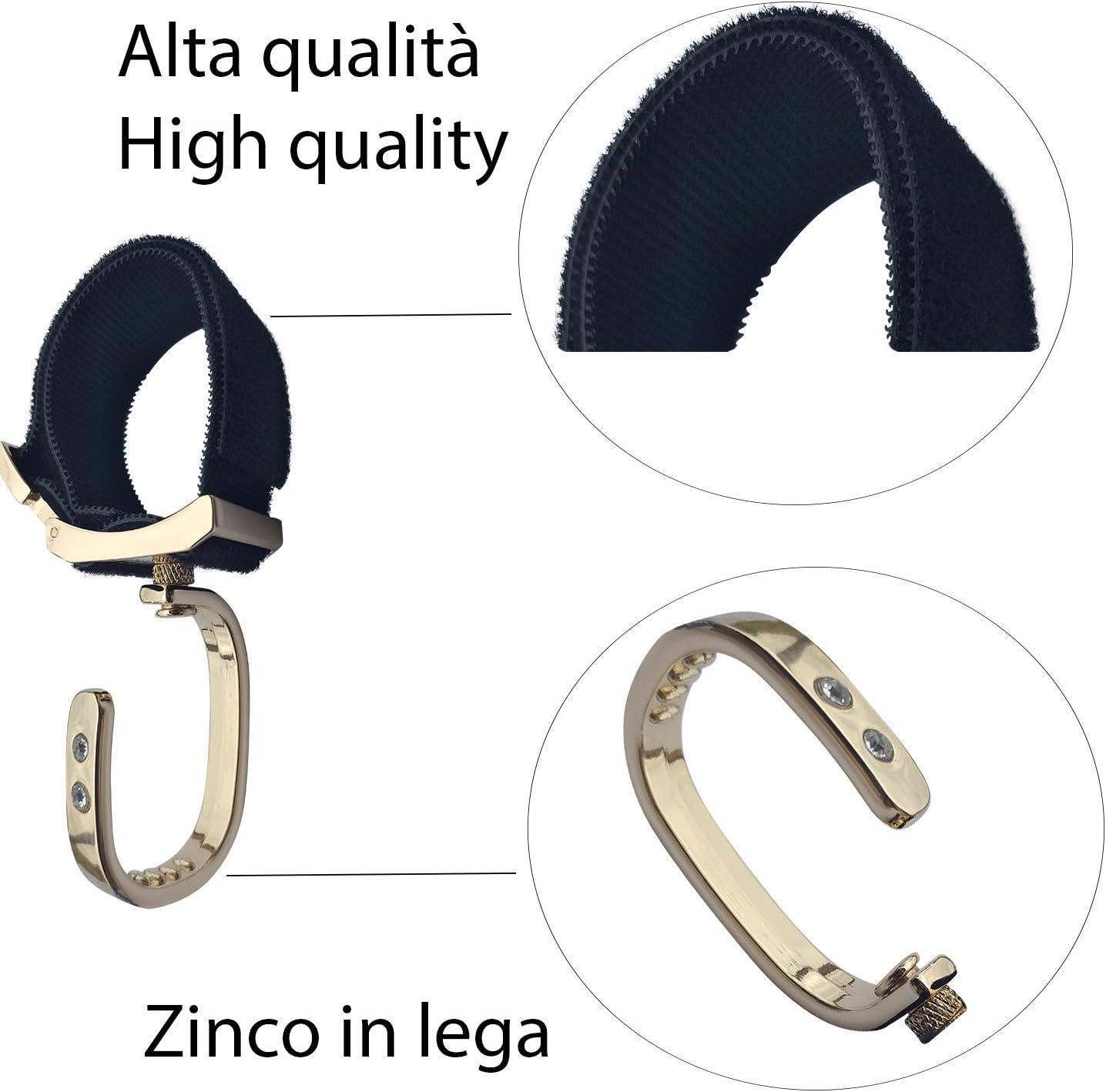 Pack of 2 Hooks Pram Hooks Universal Zinc Alloy Wheelchair Hooks Gold Wheelchair Hooks One size