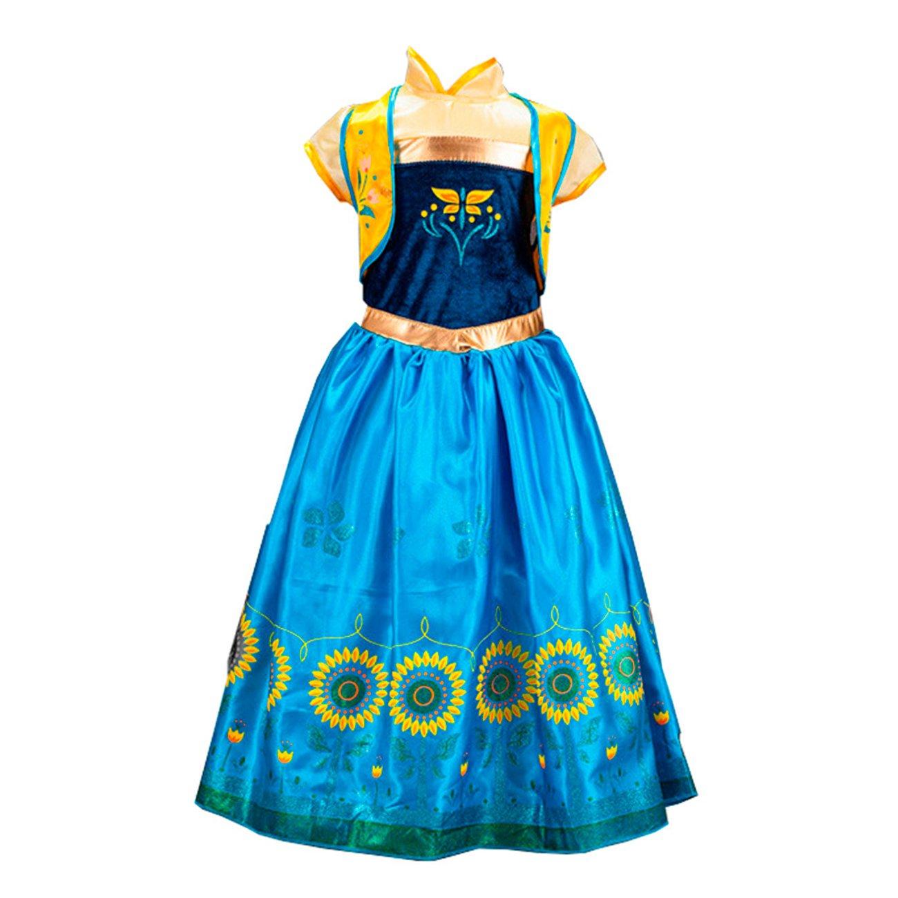 Disfraz de la Princesa ELSA ANNA de Frozen Vestido Niña (120 ...