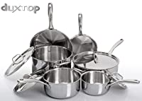 Duxtop Whole-Clad Tri-Ply 10-Piece Cookware Set