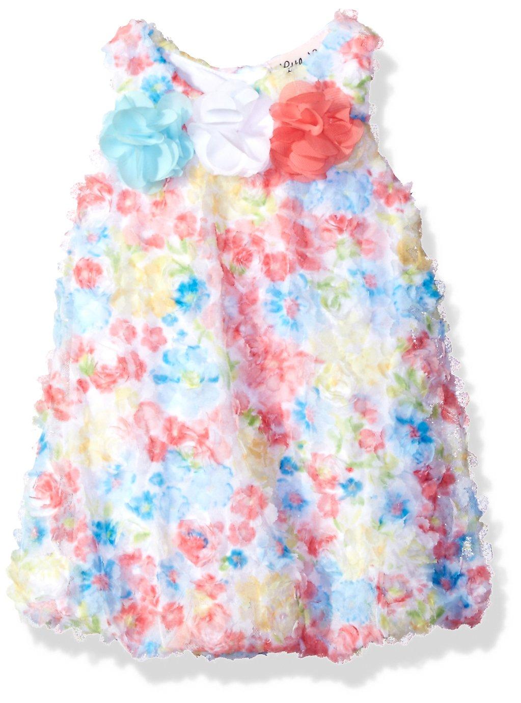 Little Lass Baby Girls' 1 Pc Floral Lace Bubble Sunsuit, Turquoise, 6M by Little Lass