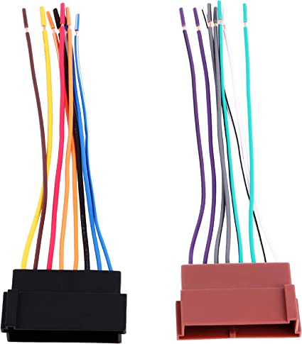 BASIKER Stereo Radio Wiring Harness Replace Factory Fit for 1985-2004 Ford//Lincoln//Mercury Vehicles