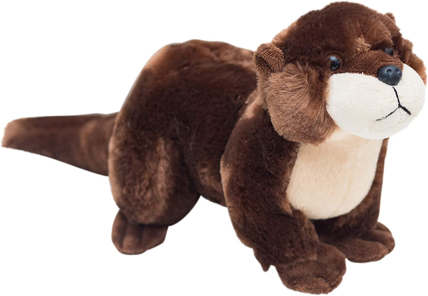 """Edgewood Toys 16"""" River Otter Stuffed Animal - Ultra Soft Stuffed Otter Plush with Superior Softness – Perfect Size Otter Plush Toy for Kids - Easy to Carry & Snuggle - Realistic & Cute - Ages 3+"""