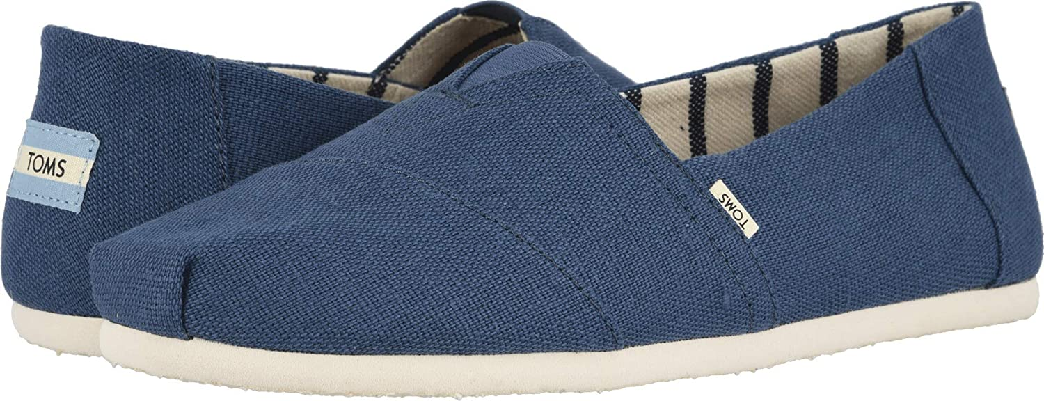 Amazon.com | TOMS Mens Venice Collection Alpargata Airforce Blue Heritage Canvas 7 D US | Loafers & Slip-Ons